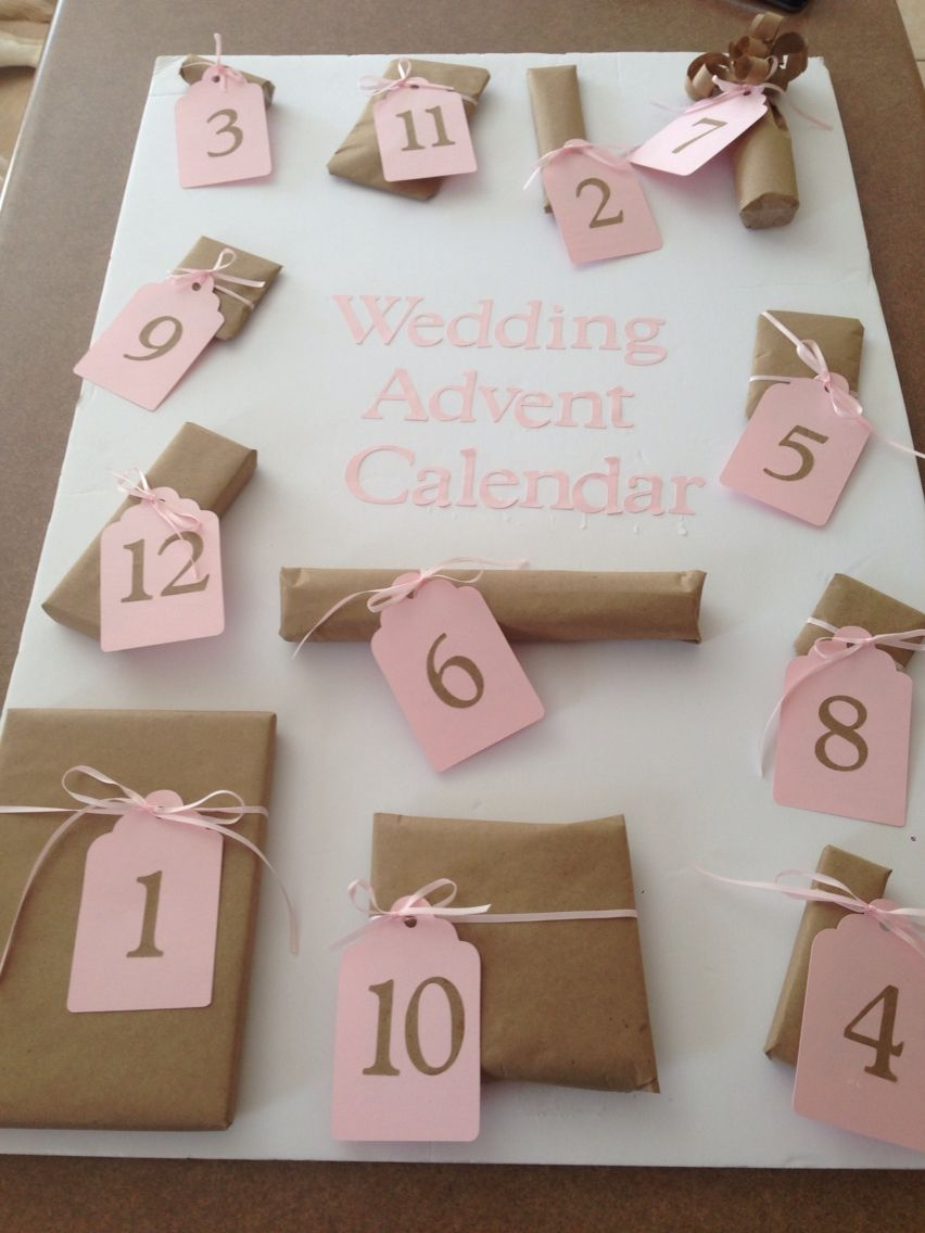 Wedding Advent Calendar Cute Little Presents For The 12 Days Before