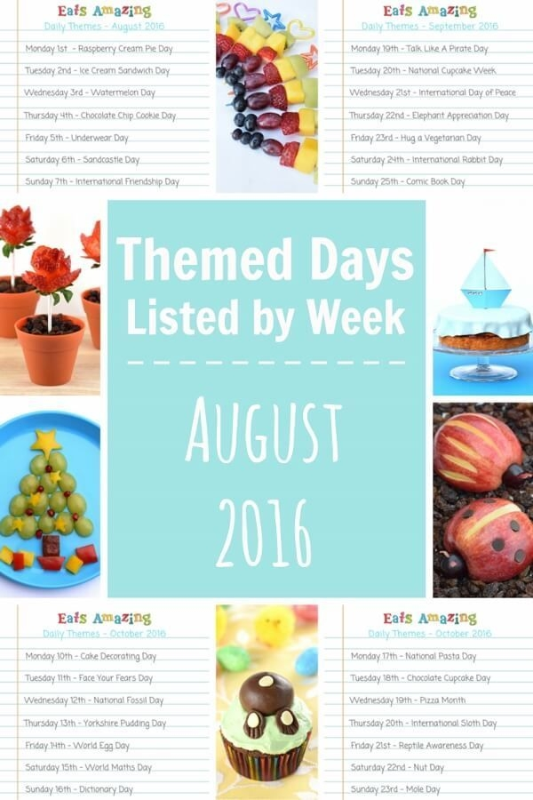 A Months Worth Of Lists Of Themed Days To Inspire Fun Food Crafts