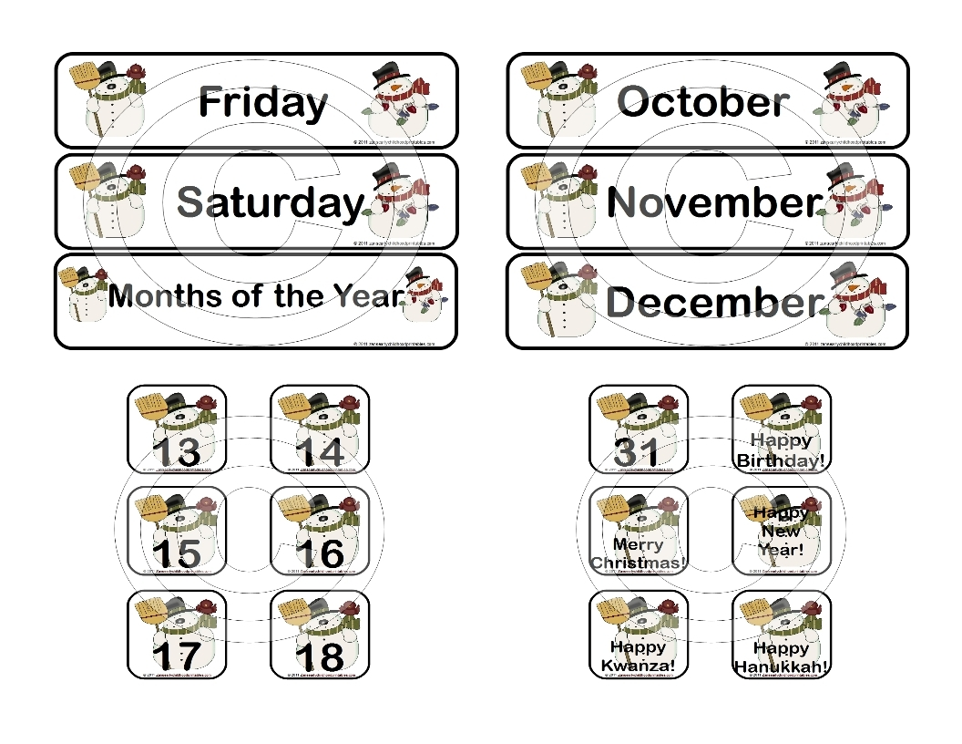 January Calendar Numbers 1 31 Calendar Template 2018