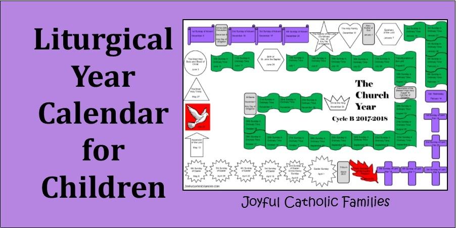 Liturgical Year Calendar For Children