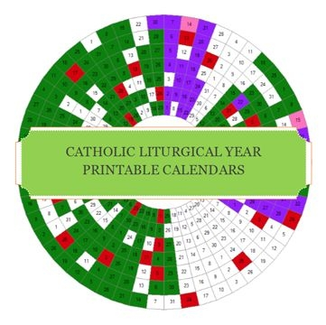 Printable Liturgical Calendars For Both The Of And Ef Updated For