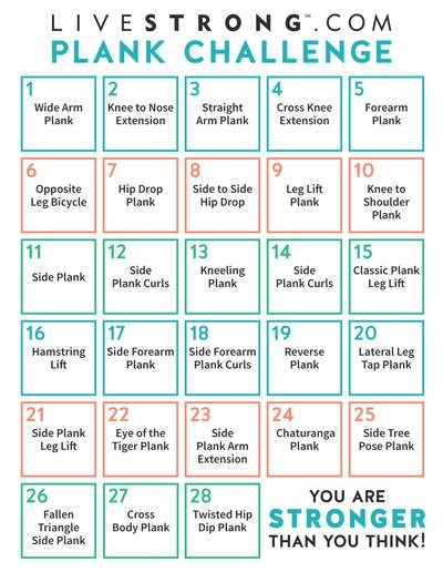 The 4 Week Plank Challenge Livestrong