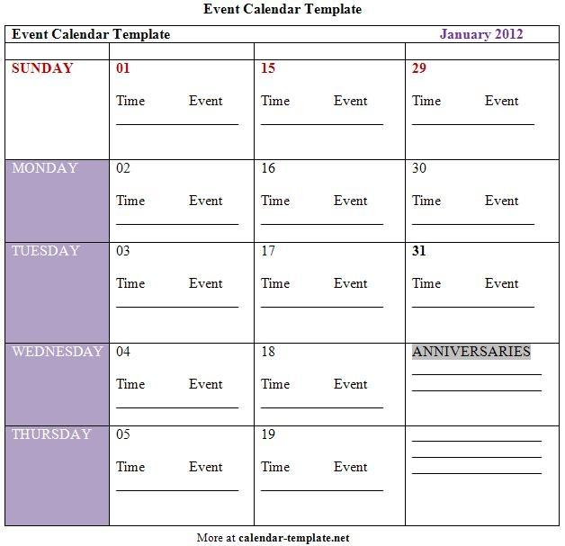 Activity Calendar Template Activity Calendar Templates 9 Free Pdf