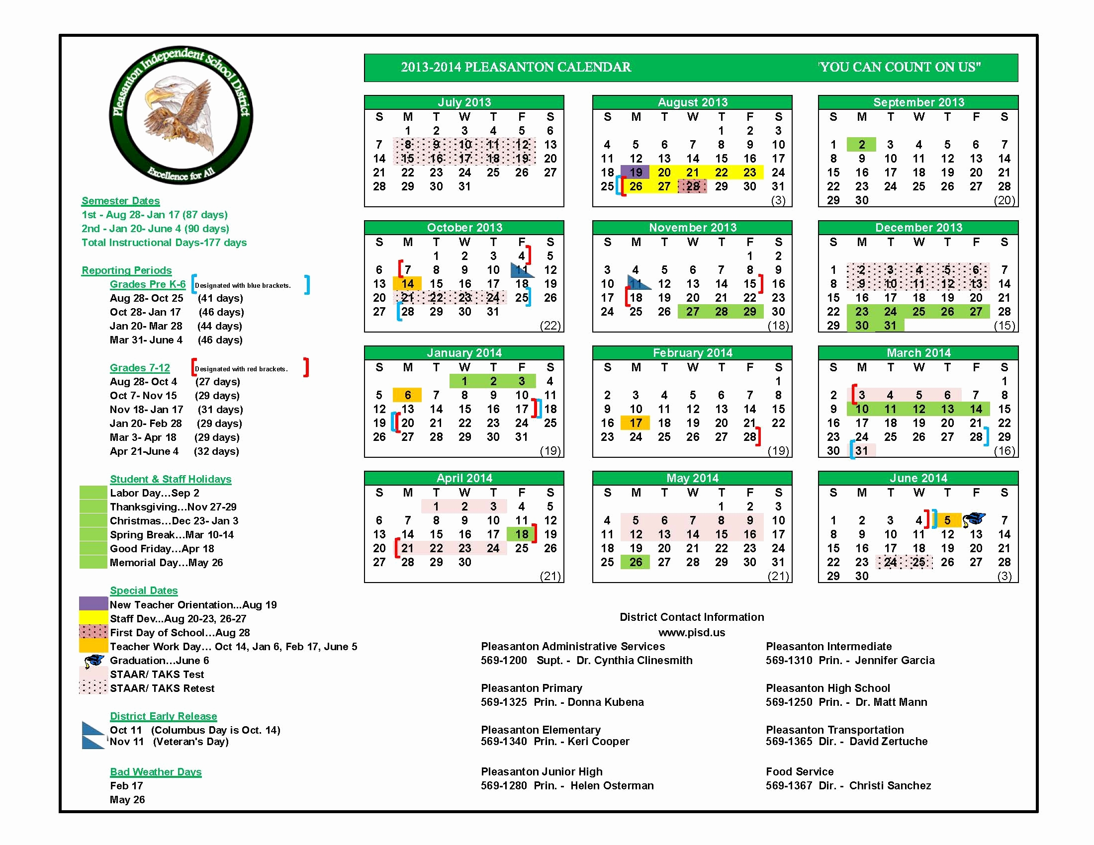Del Valle Isd Calendar Yisd School District Calendar Pictures To Pin