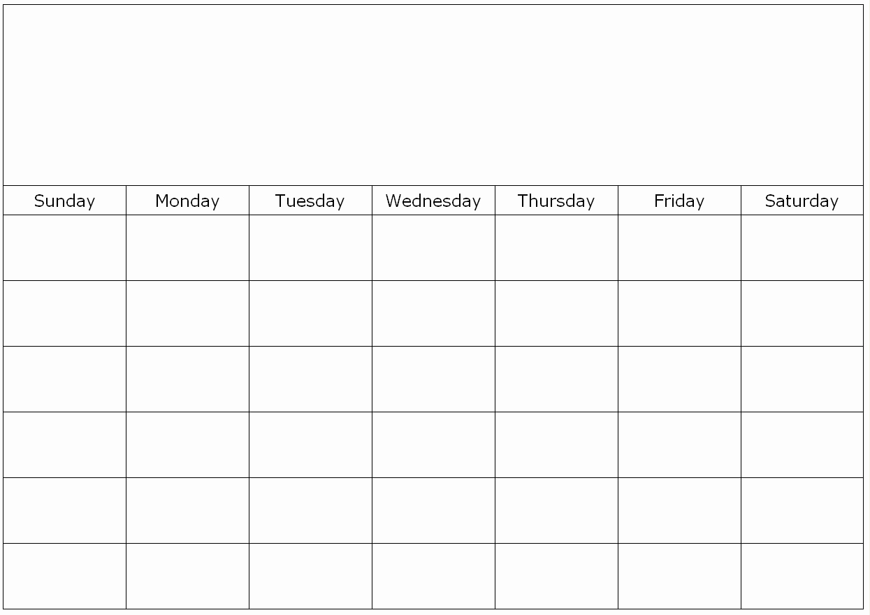 Fill In Calendar Online Monthly Blank Calendar Page