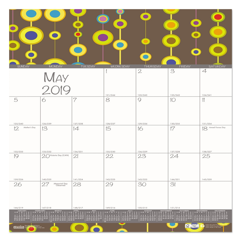 100 Recycled Bubbleluxe Wall Calendar 12 X 12 2019 | Ebay Calendar 2019 Ebay