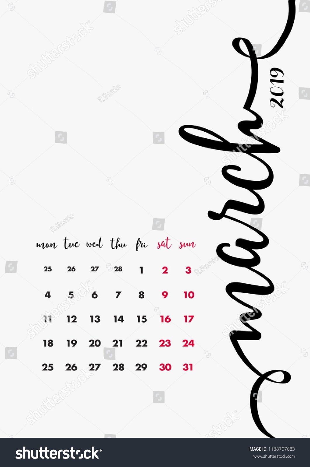 12 Months Calendar Pages Set Calendar Stock Vector (Royalty Free Page 3 Calendar 2019