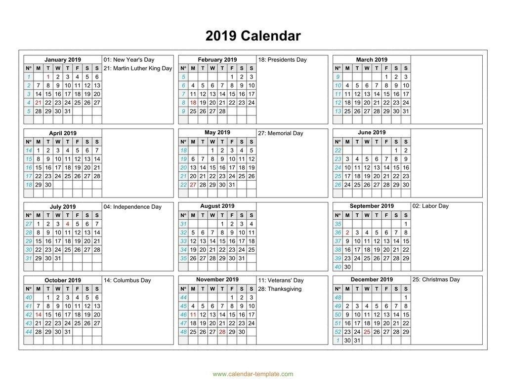 2 Column Calendar 2019 | Ten Free Printable Calendar 2019 2020 3 Column Calendar 2019