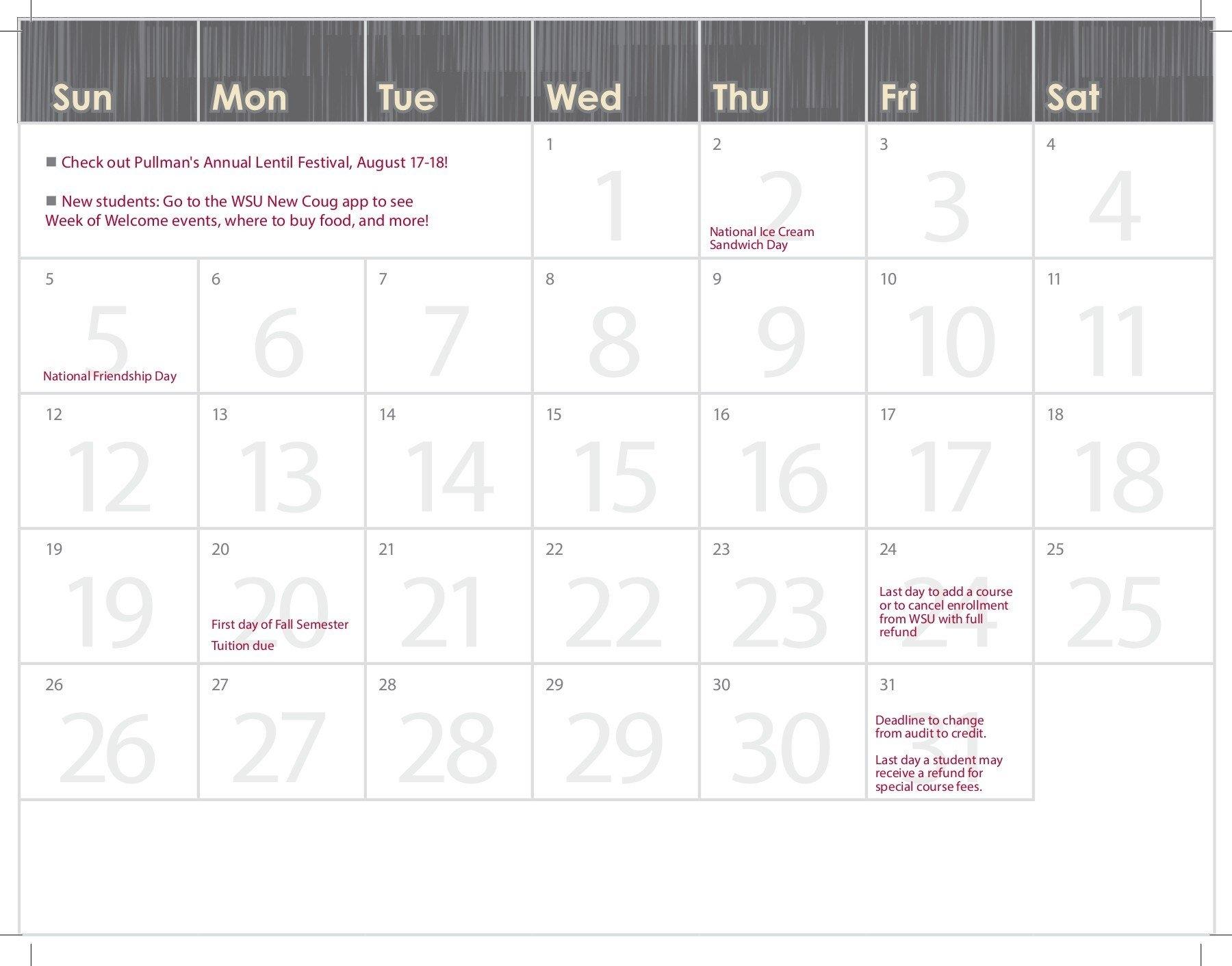 2018 19 Wsu Academic Calendar Pages 1 – 28 – Text Version | Fliphtml5 Uc Berkeley Academic Calendar 2019 20