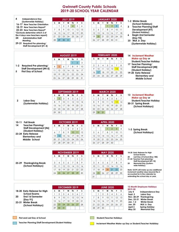 2018 2019 Calendar Approved 1 13 18 All Fulton County School School Calendar 2019 20 Broward