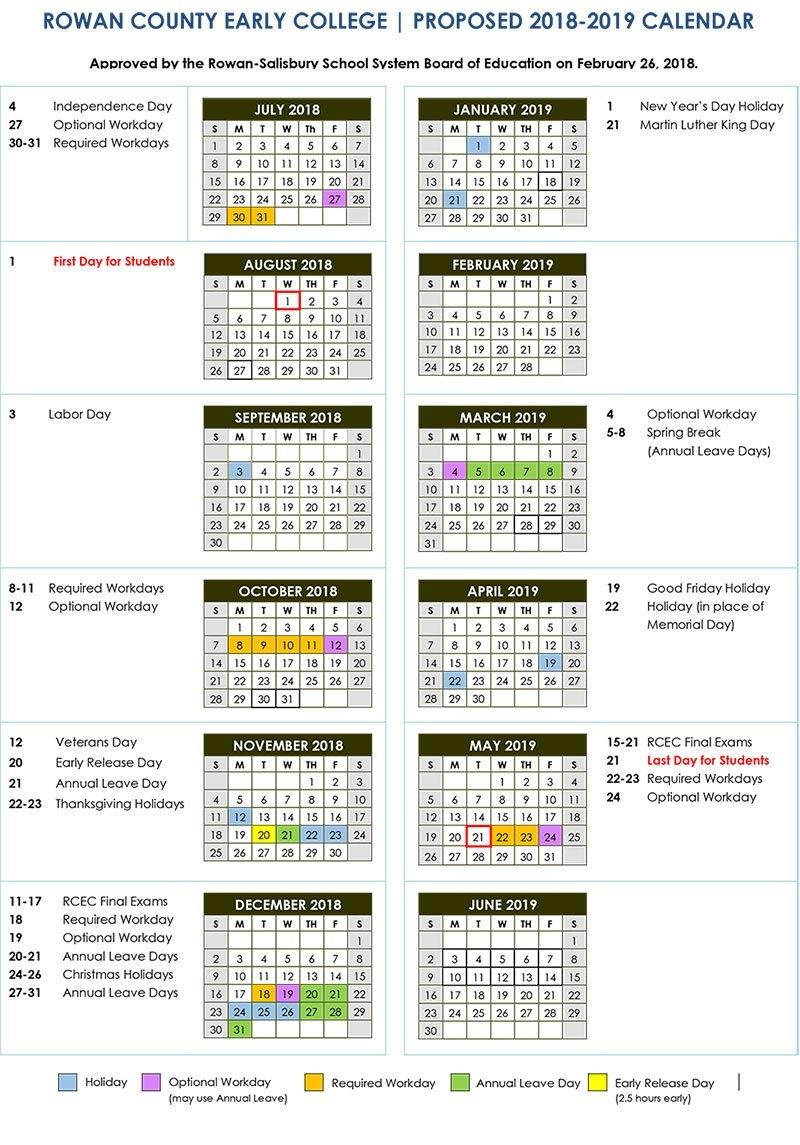 2018 2019 Calendars   District News K State Calendar Spring 2019