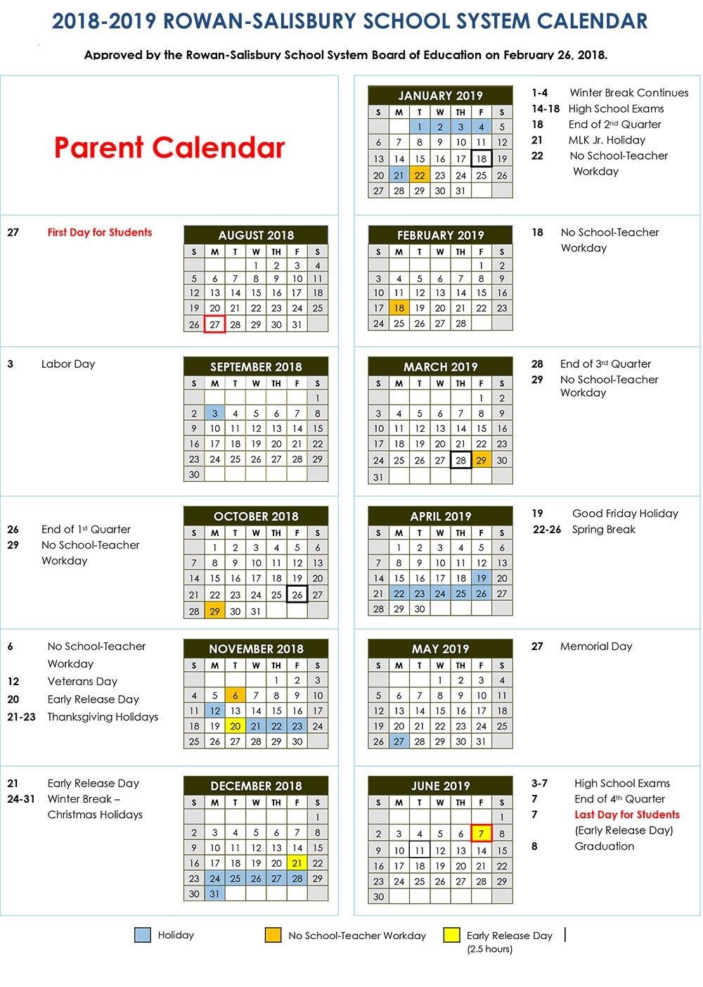 2018-2019 Calendars | District News K State Calendar Spring 2019