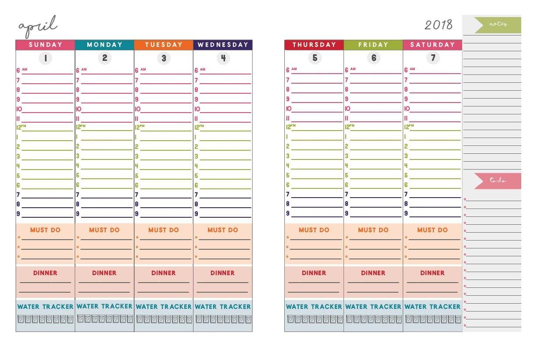 2018 2019 Dated 2 Page Daily Planner/calendar | Moritz Fine Designs Calendar 2019 Daily