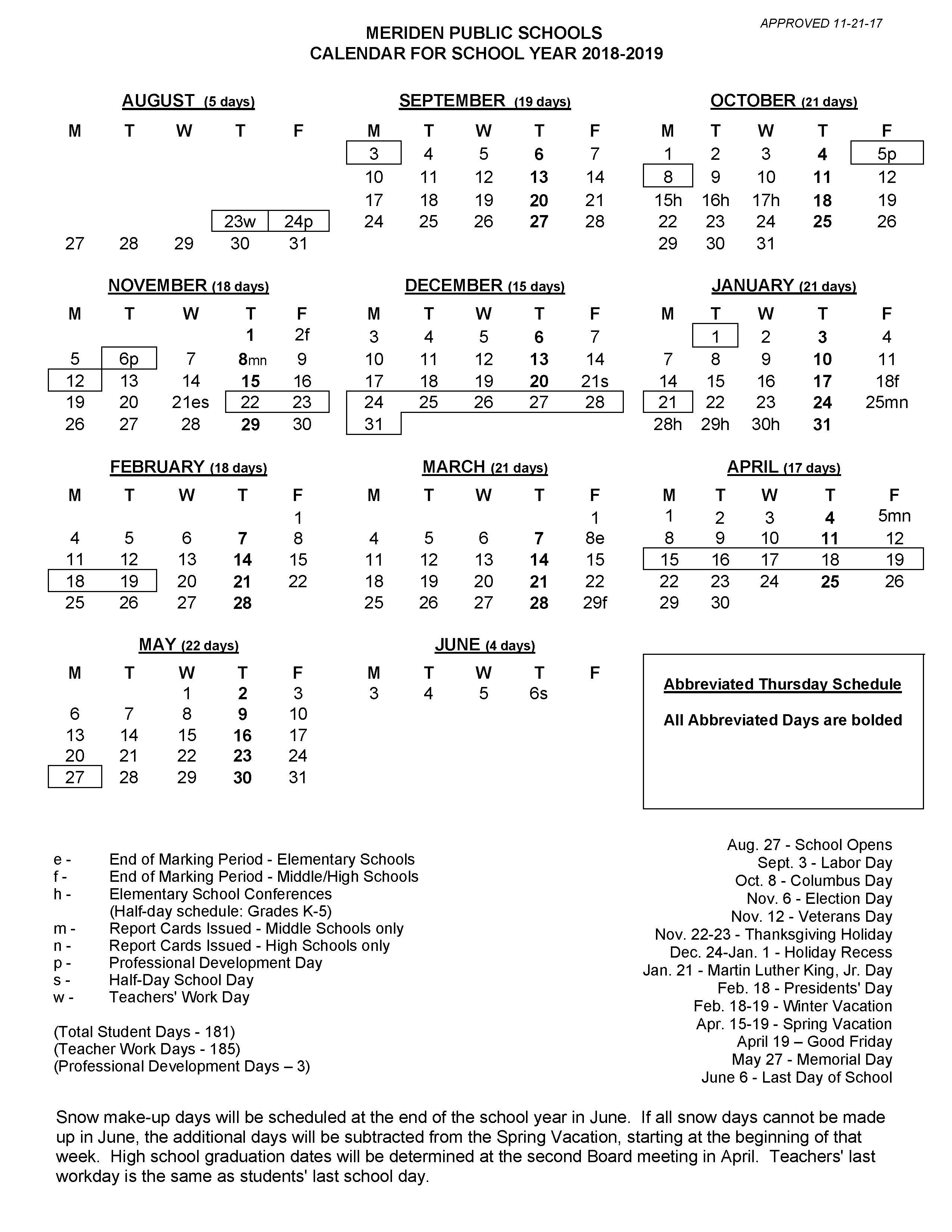 2018 2019 School Calendar Calendar 2019 Nigeria