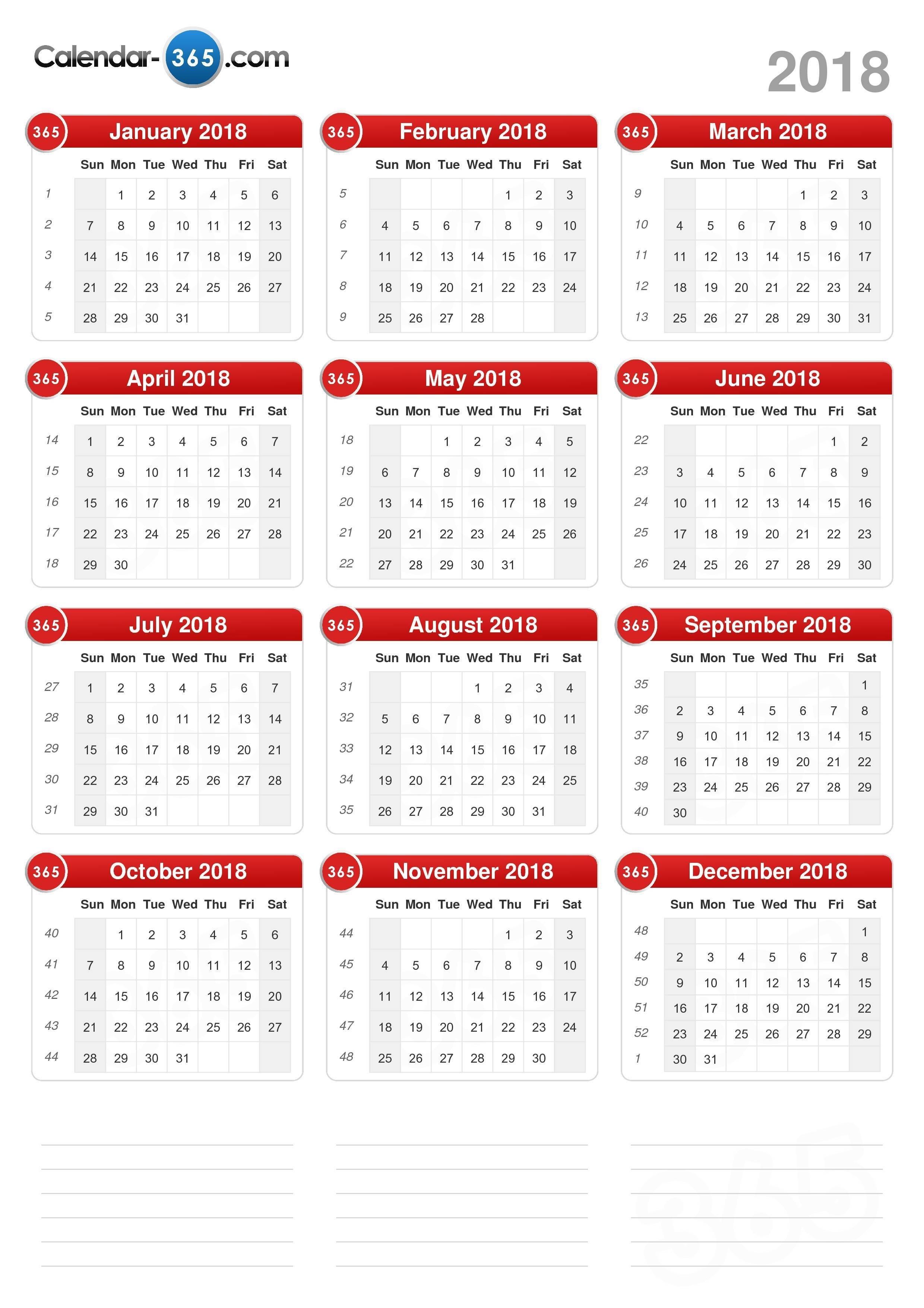 2018 Calendar 4 4 5 Calendar 2019
