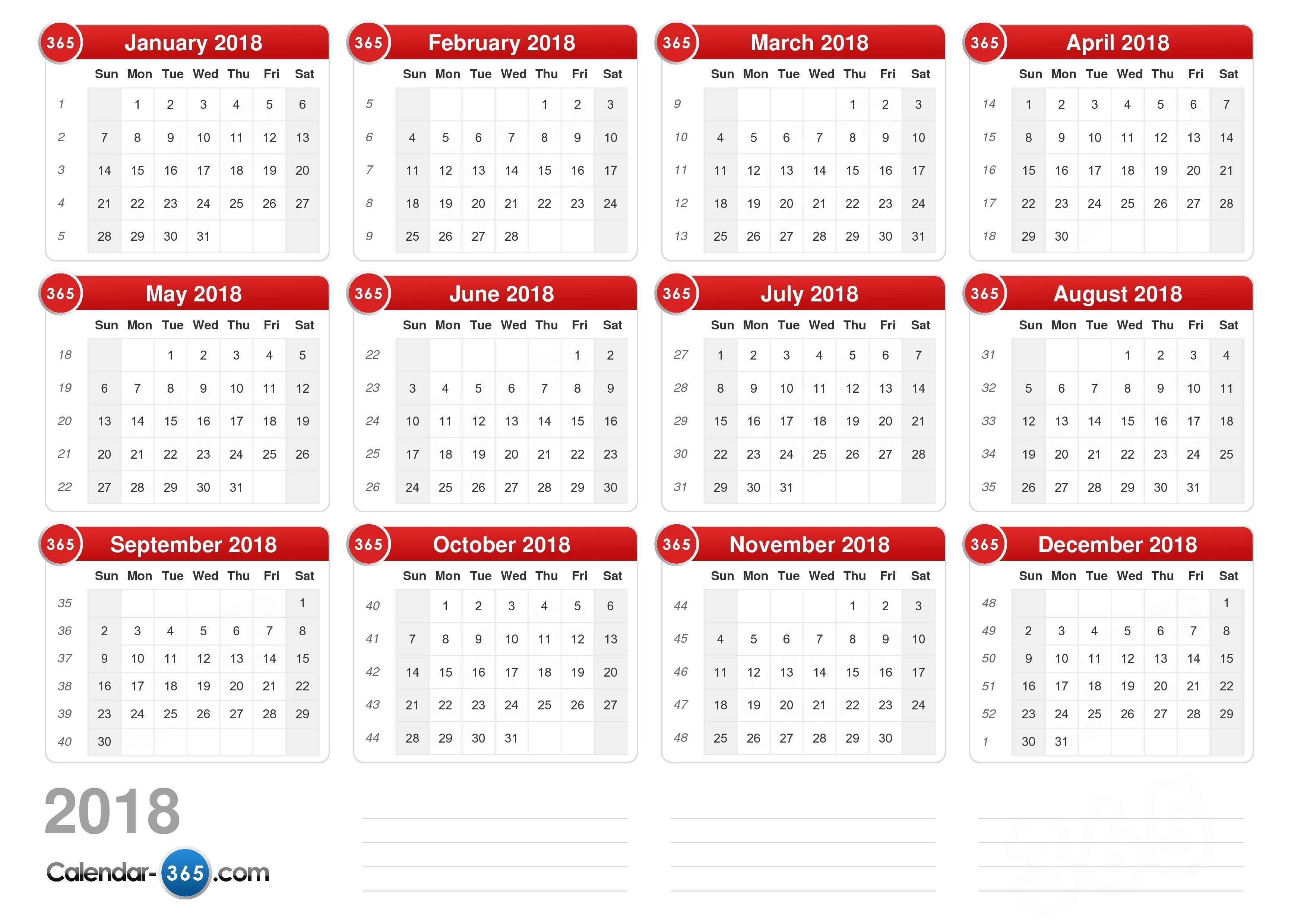 2018 Calendar Calendar Week 39 2019