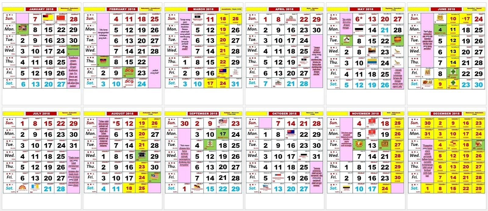 2018 Kalendar   2019 2018 Calendar Printable With Holidays List Calendar 2019 Kuda Pdf