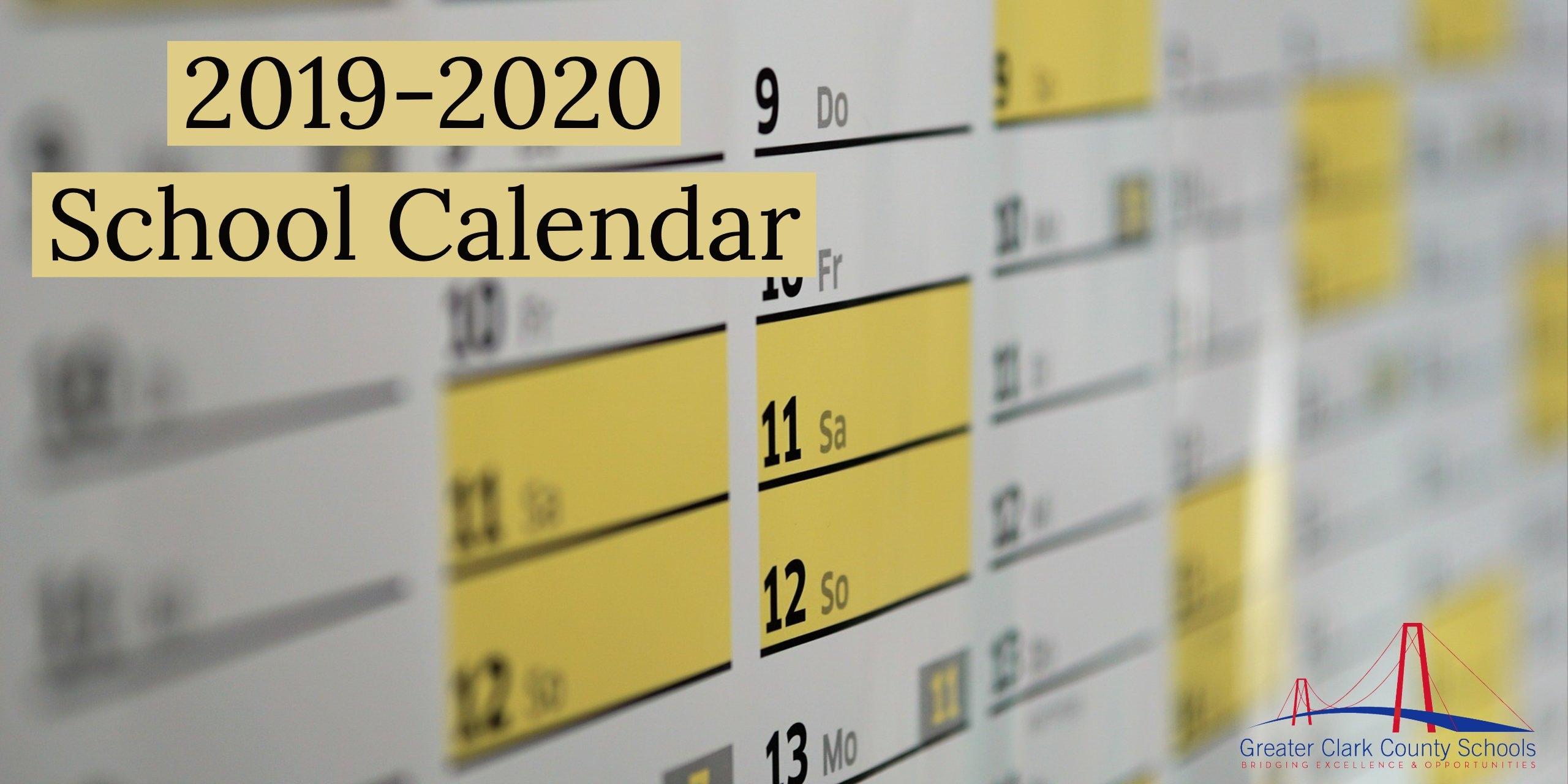 2019 2020 School Calendar – Greater Clark County Schools Ccsd Calendar 2019 20
