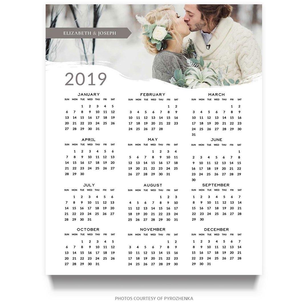 2019 8X10 Photoshop Calendar Template – Mockaroon 8 X 10 2019 Calendar