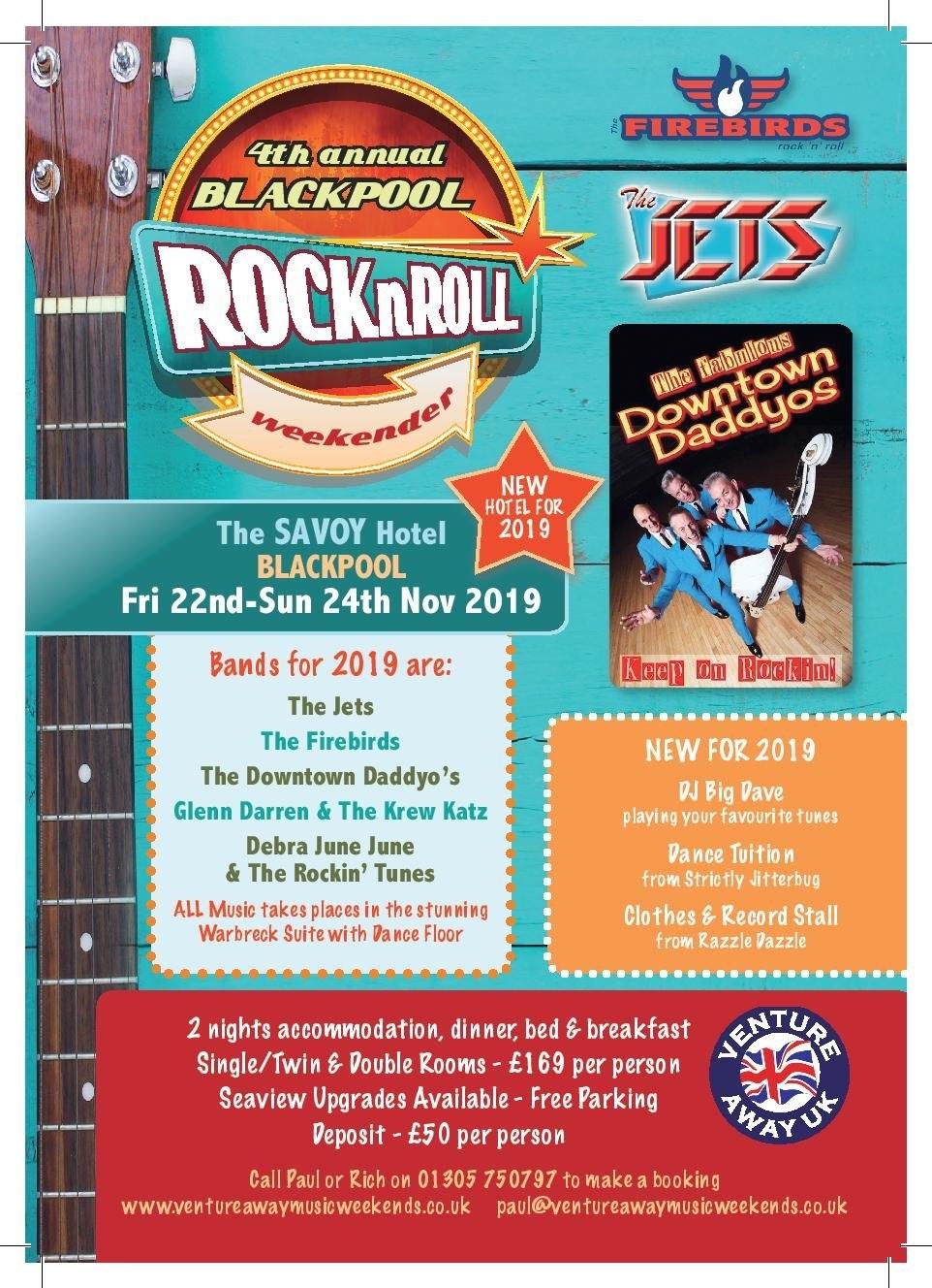 2019 Blackpool Rock & Roll Weekender : Jazz Festival Weekends Rock N Roll Calendar 2019