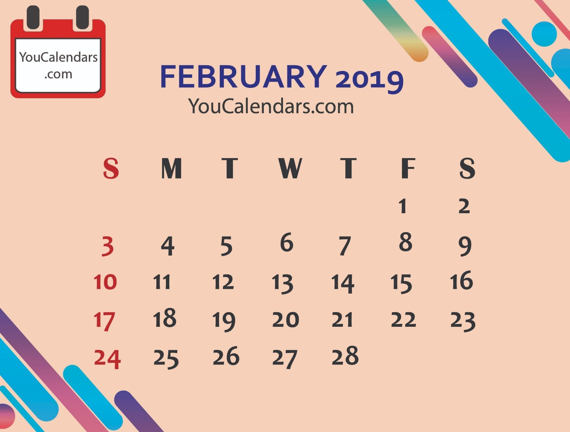 2019 Calendar Archives – You Calendars Feb 9 2019 Calendar