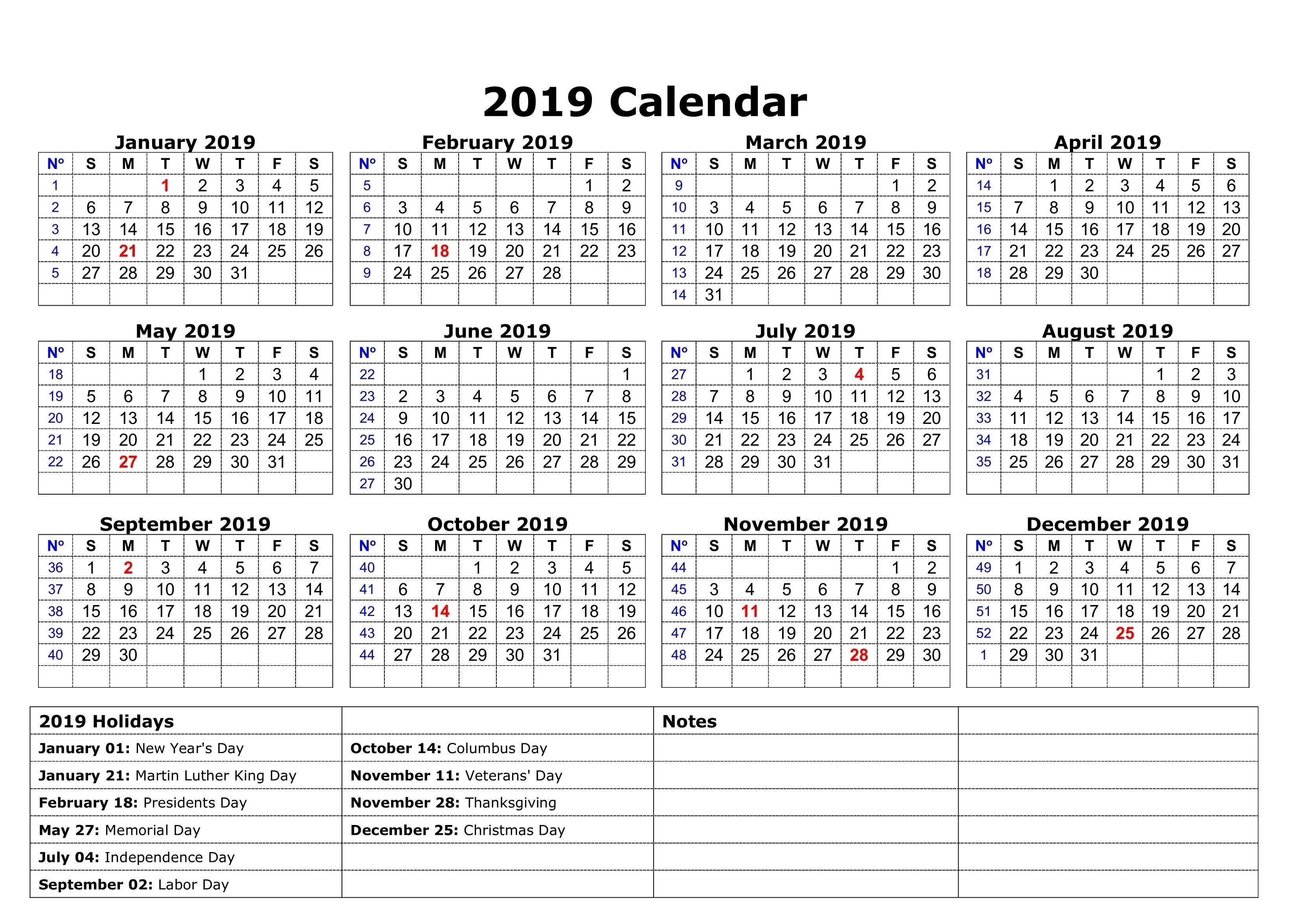 2019 Calendar Holidays | 2019 Calendar Holidays | Pinterest Calendar 2019 List Of Holidays