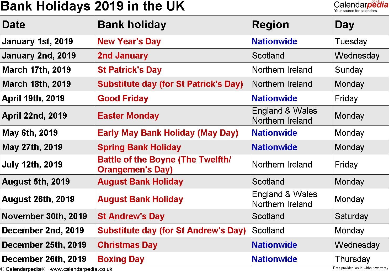 2019 Calendar Holidays – Superb Vehicles Calendar 2019 Of Holidays