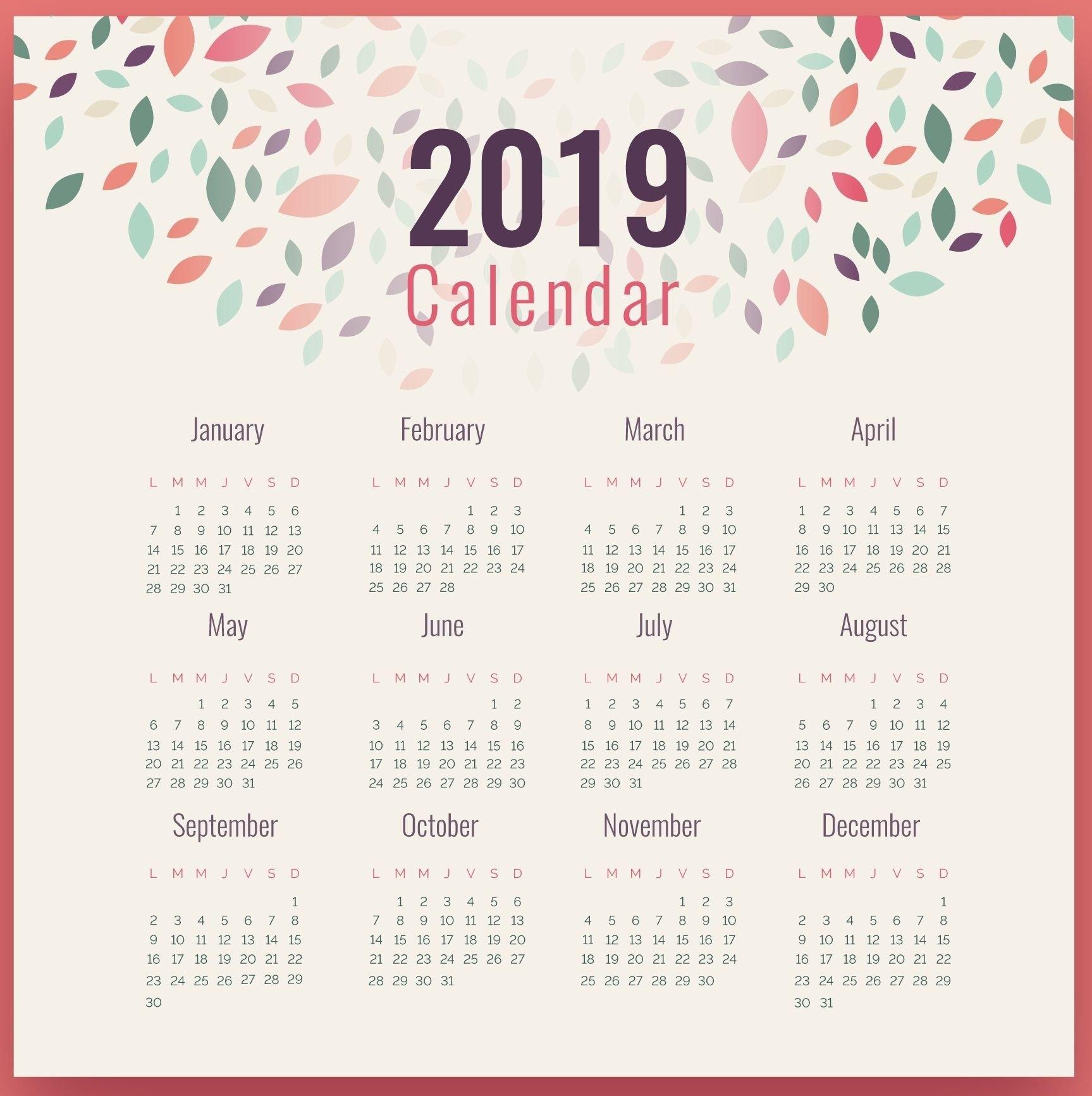 2019 Calendar Photo Frame Design | Calendar 2019 | Kalender J 2019 Calendar