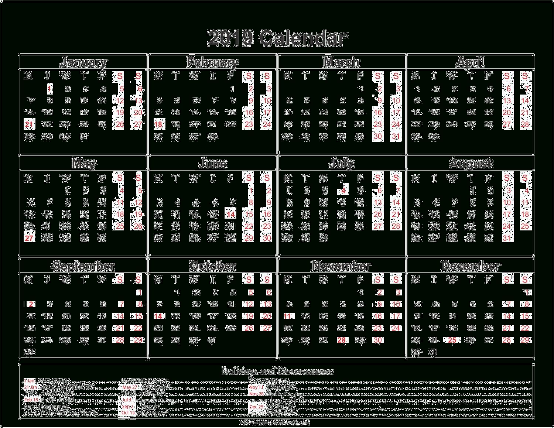 2019 Calendar Png Transparent Images   Png All Calendar 2019 Png