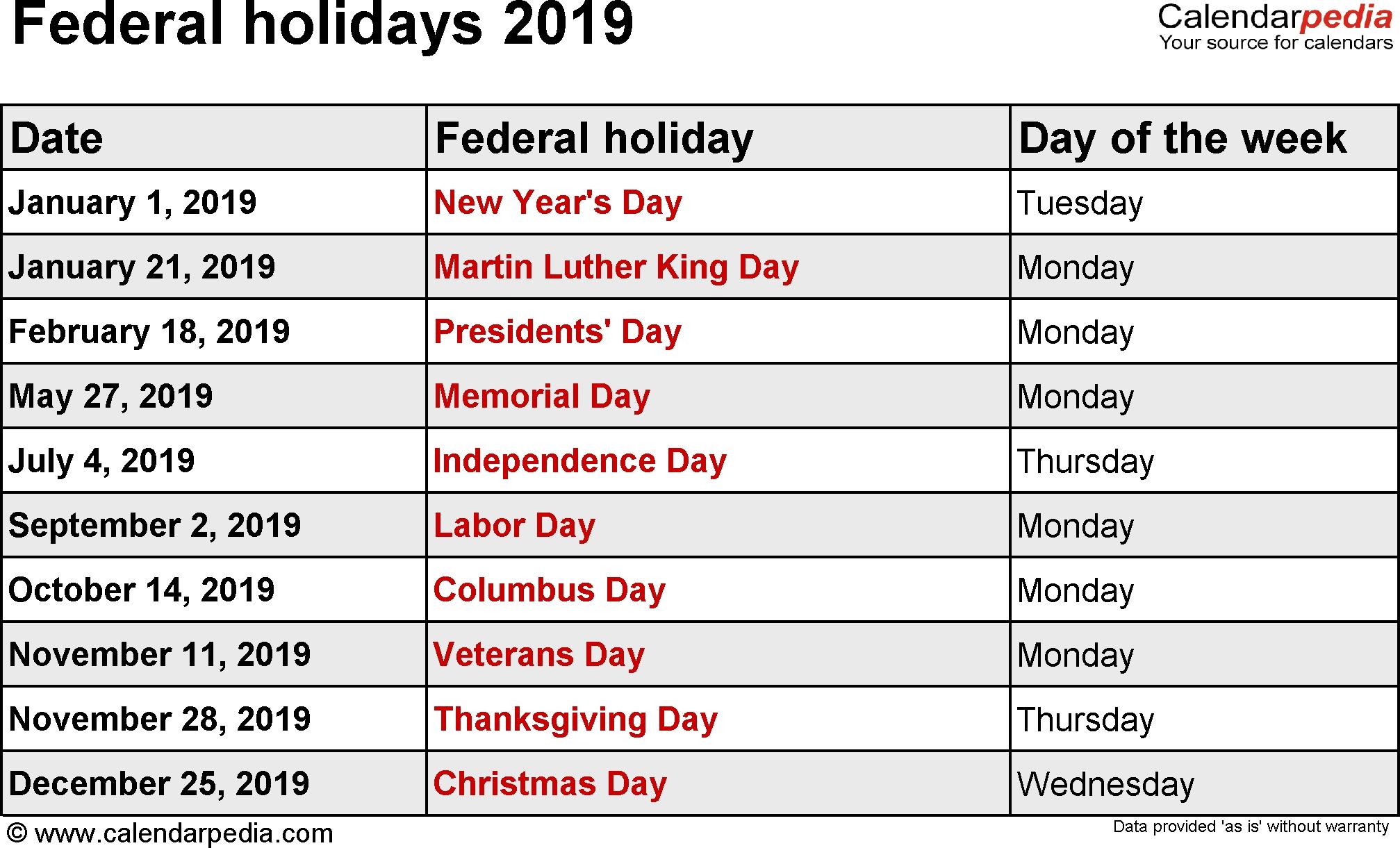 2019 Calendar With Holidays – Us, Uk, Australia, Canada – 2018 Calendar Calendar 2019 Canada Holidays