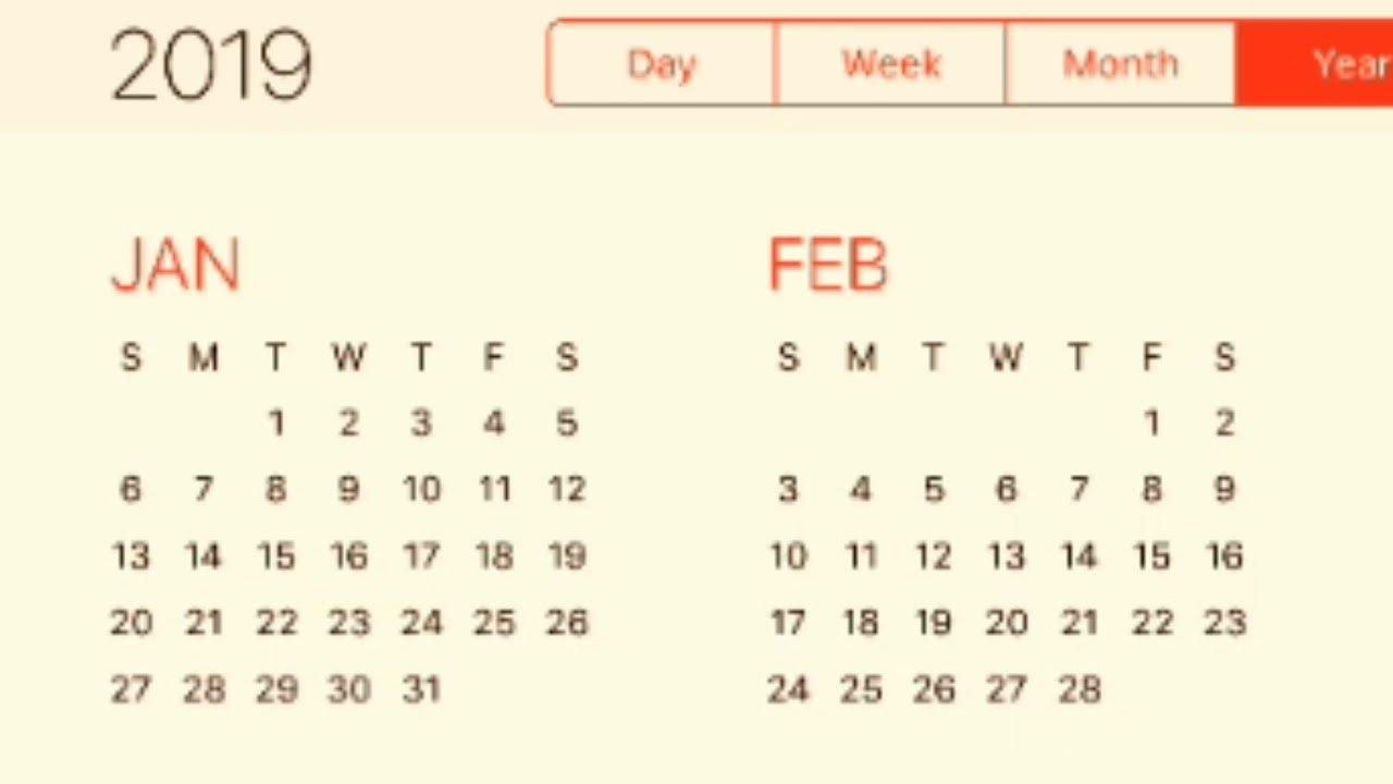 2019 Calendar – Youtube Calendar 2019 Ke