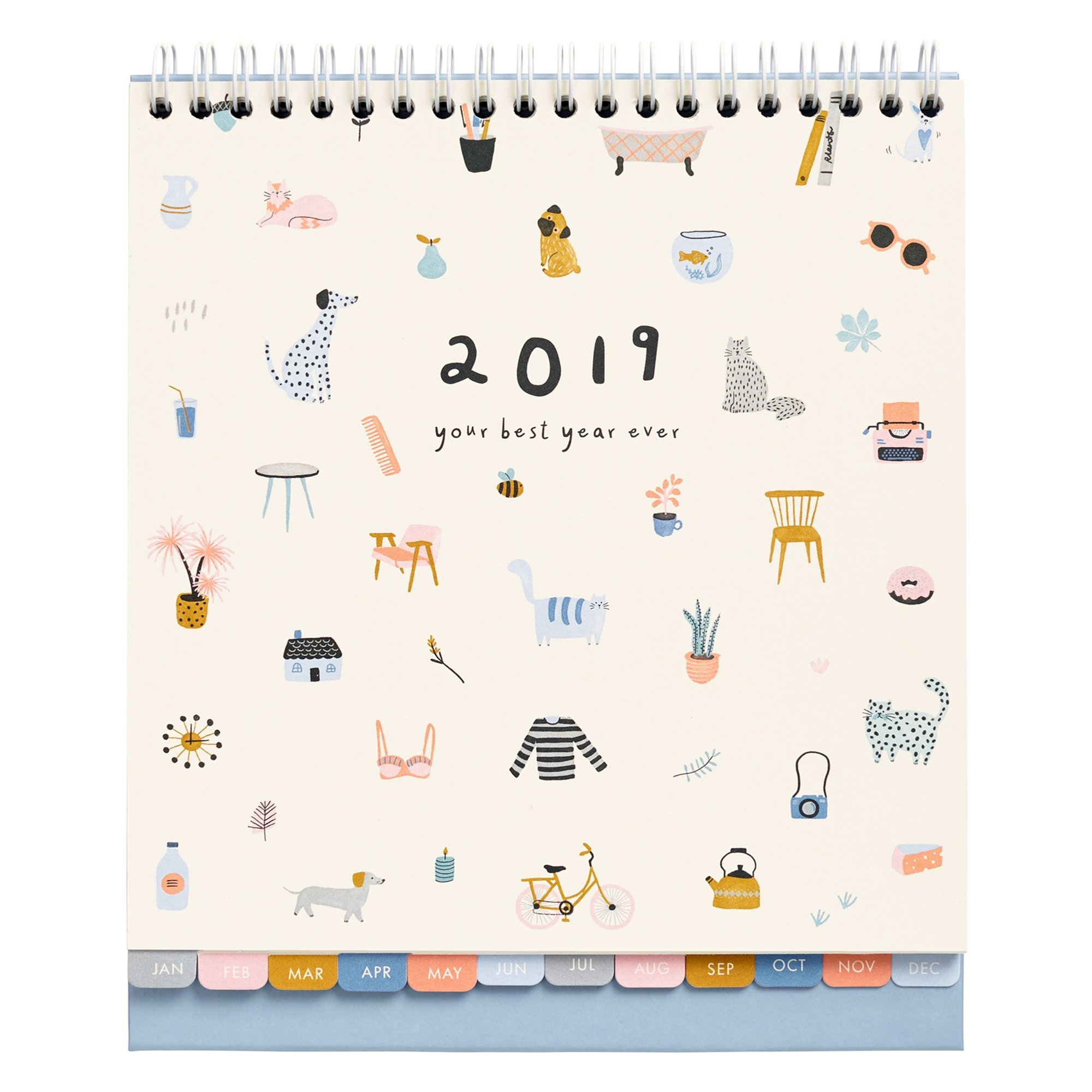 2019 Desk Calendar: Sweet | Calendars | Kikki.k Calendar 2019 With Pictures
