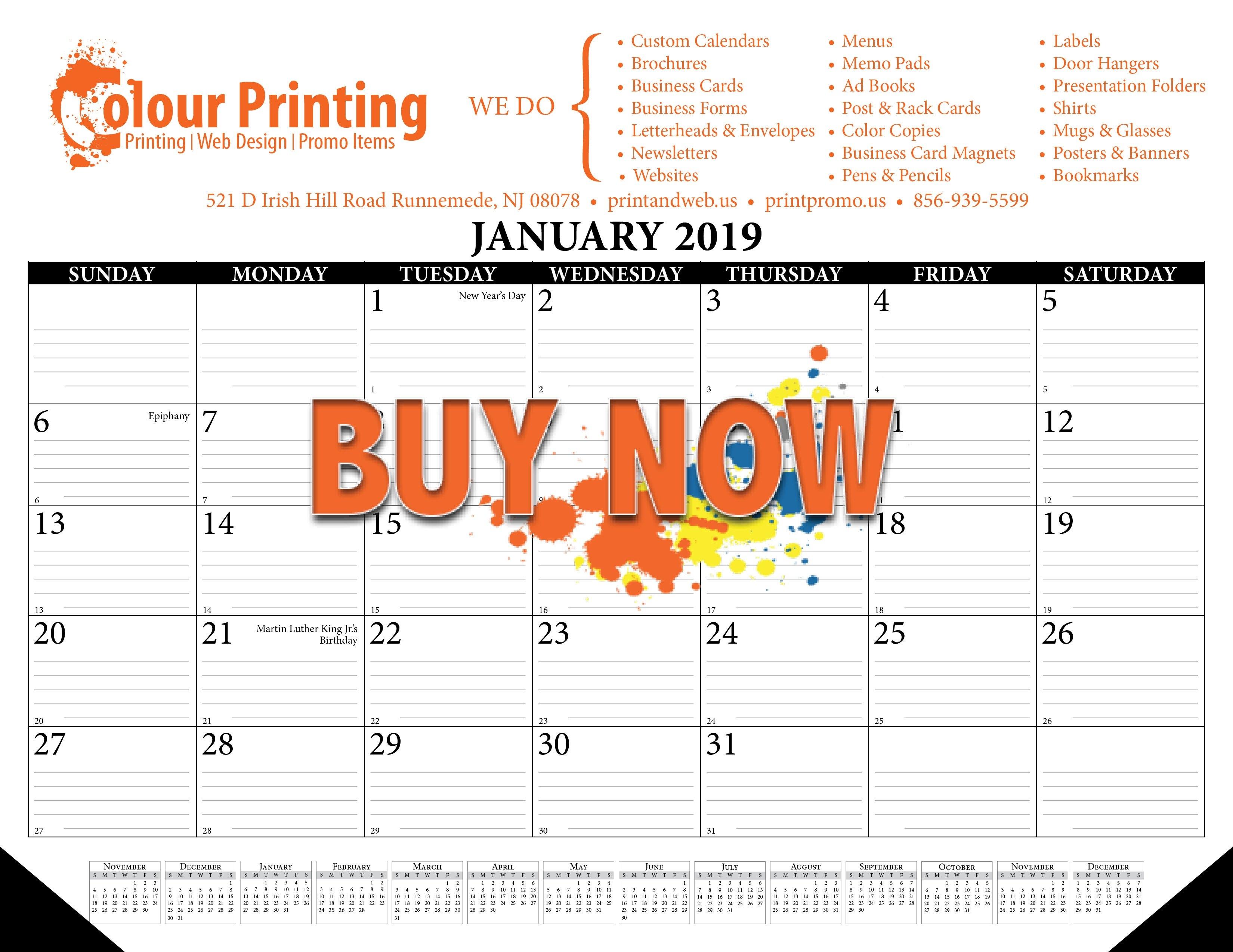 2019 Desktop Calendars Nj – Personalized Calendars   Nj Print And Web Busy B Desktop Calendar 2019