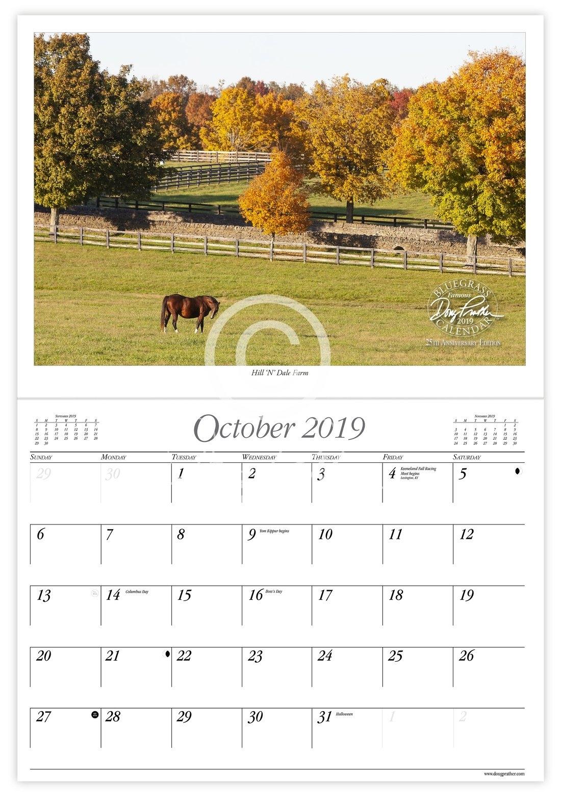2019 Doug Prather Famous Bluegrass Calendar, 25Th Anniversary W&m Calendar 2019