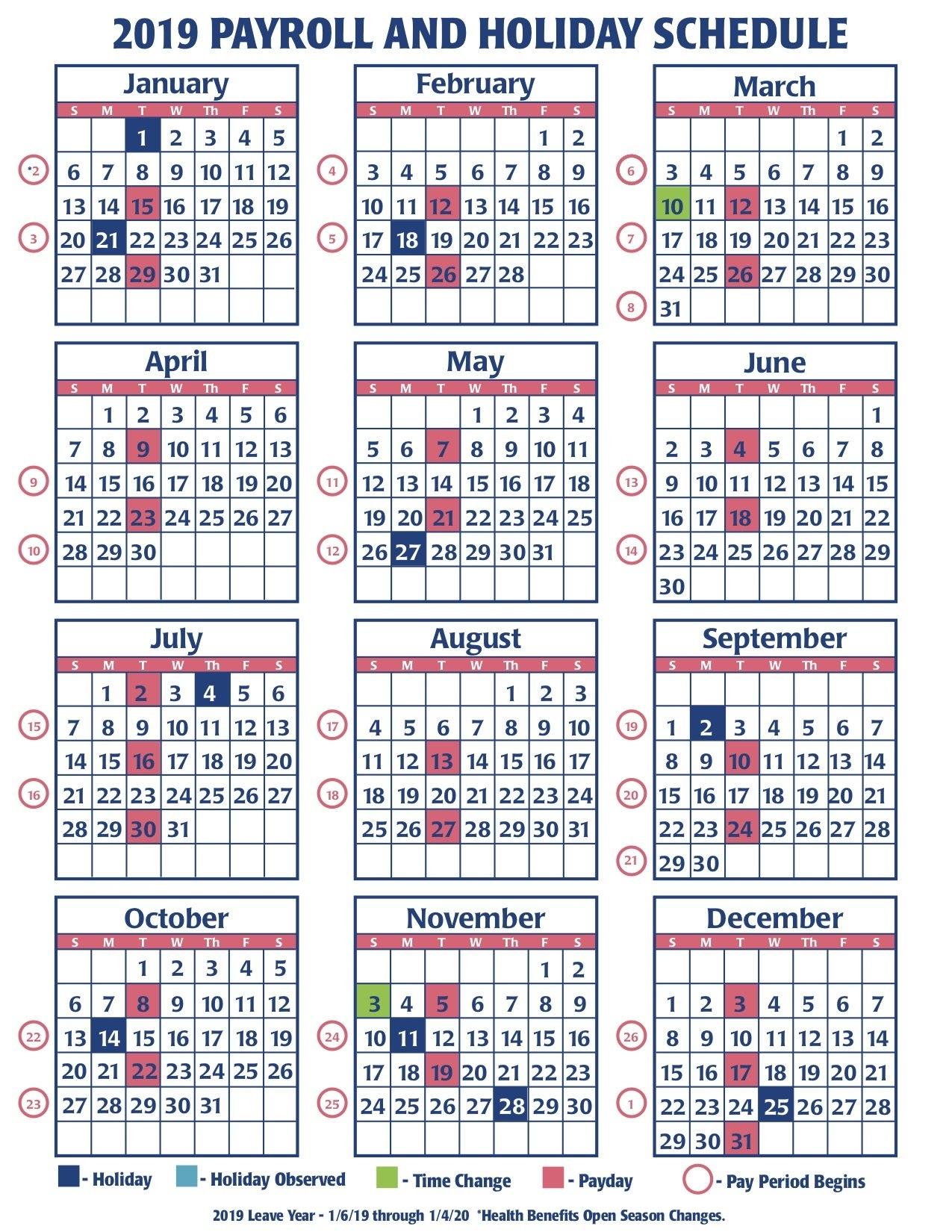 2019 Faa Payroll Calendar – Faa Managers Association 4 Weekly Pay Calendar 2019