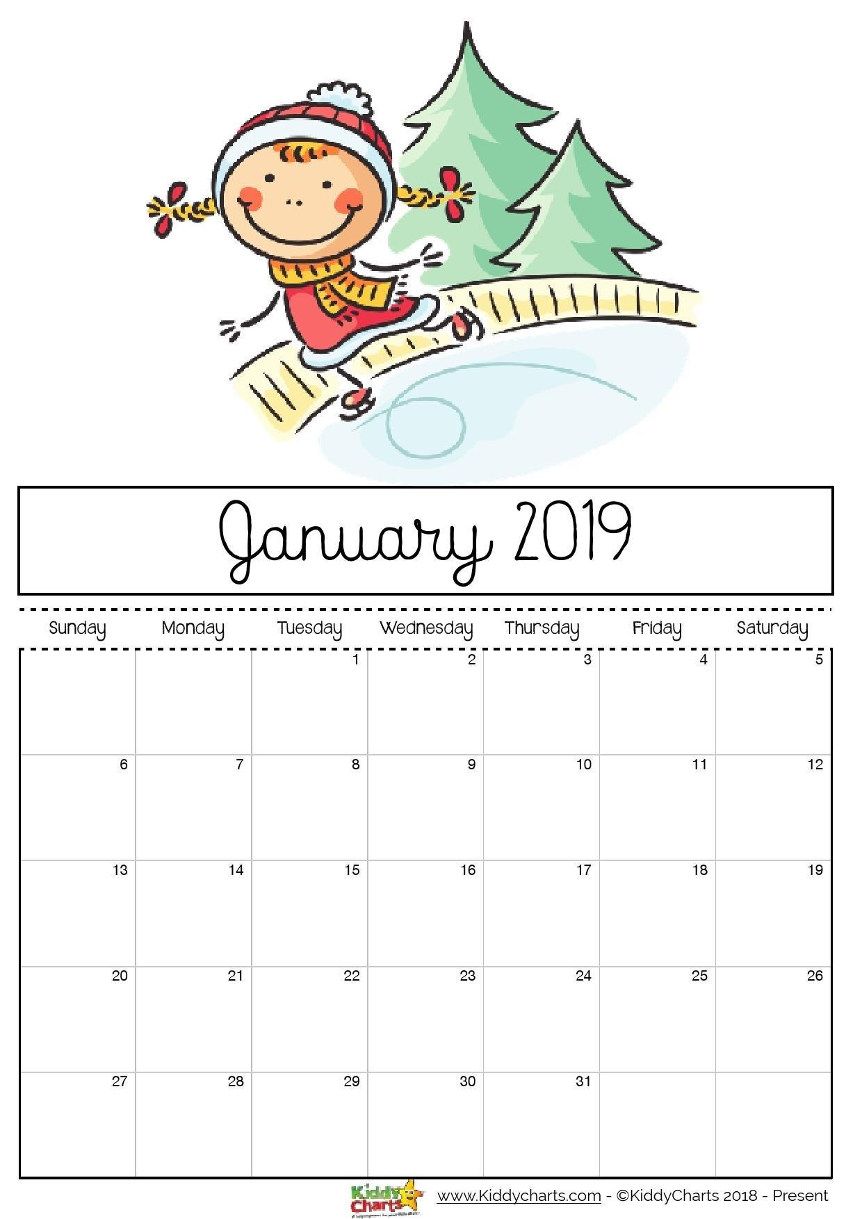 2019 Free Printable Calendars – Lolly Jane Calendar 2019 Printable Free