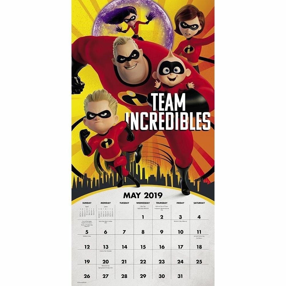 2019 Incredibles 2 2019 Wall Calendar Animated Moviesacco Brands Incredibles 2 Calendar 2019