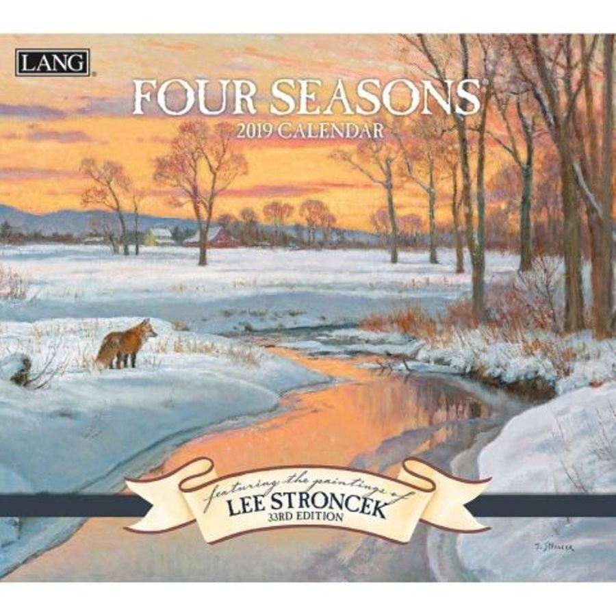 2019 Lang Calendar – Four Seasons – Artist Lee Stroncek Calendar 2019 Artist