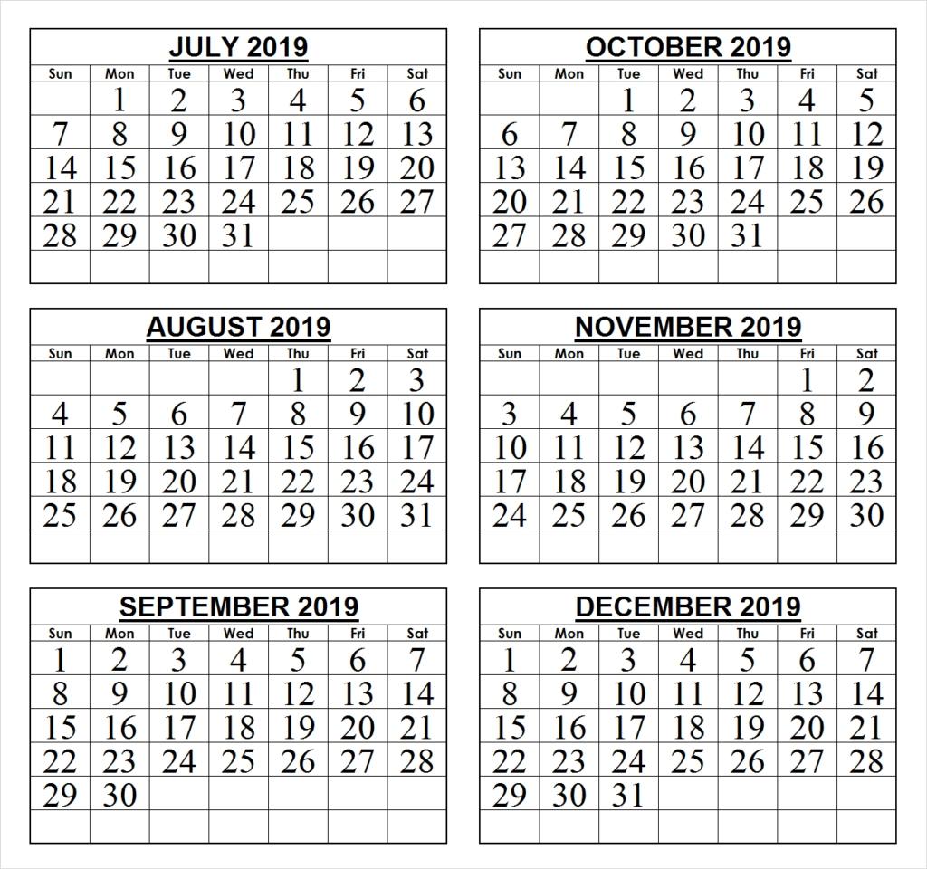 2019 Last 6 Months Calendar | 2019 Calendars | Pinterest | Calendar 2 Month Calendar 2019