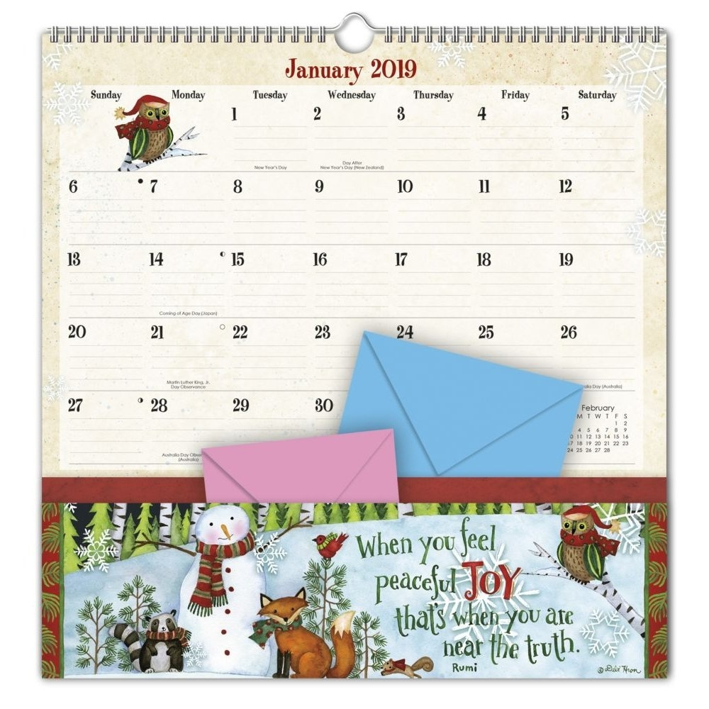 2019 Note Nook™, Simple Inspirations – Walmart Calendar 2019 With Pockets