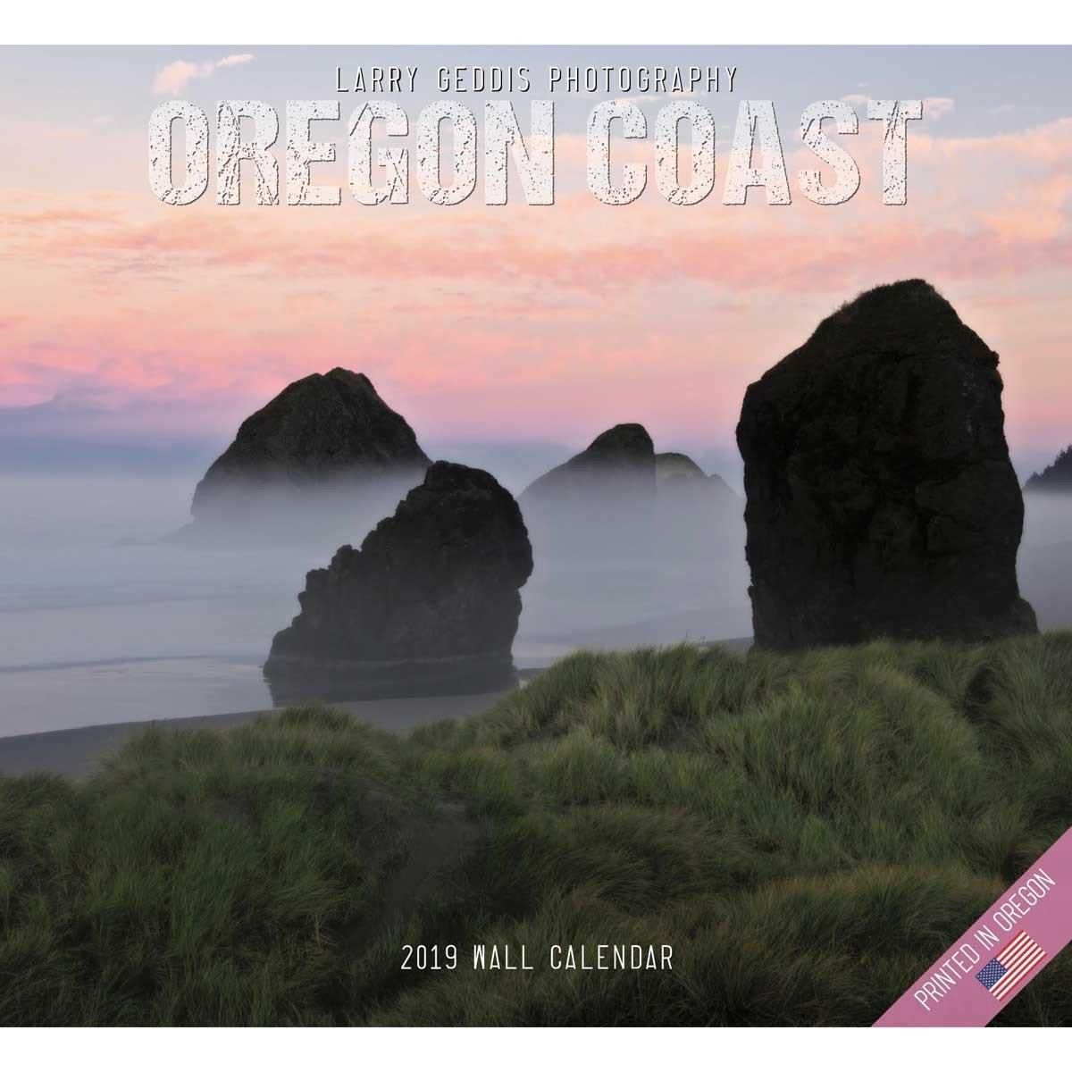 2019 Oregon Coast Calendar, Larry Geddis Rock N Roll Calendar 2019
