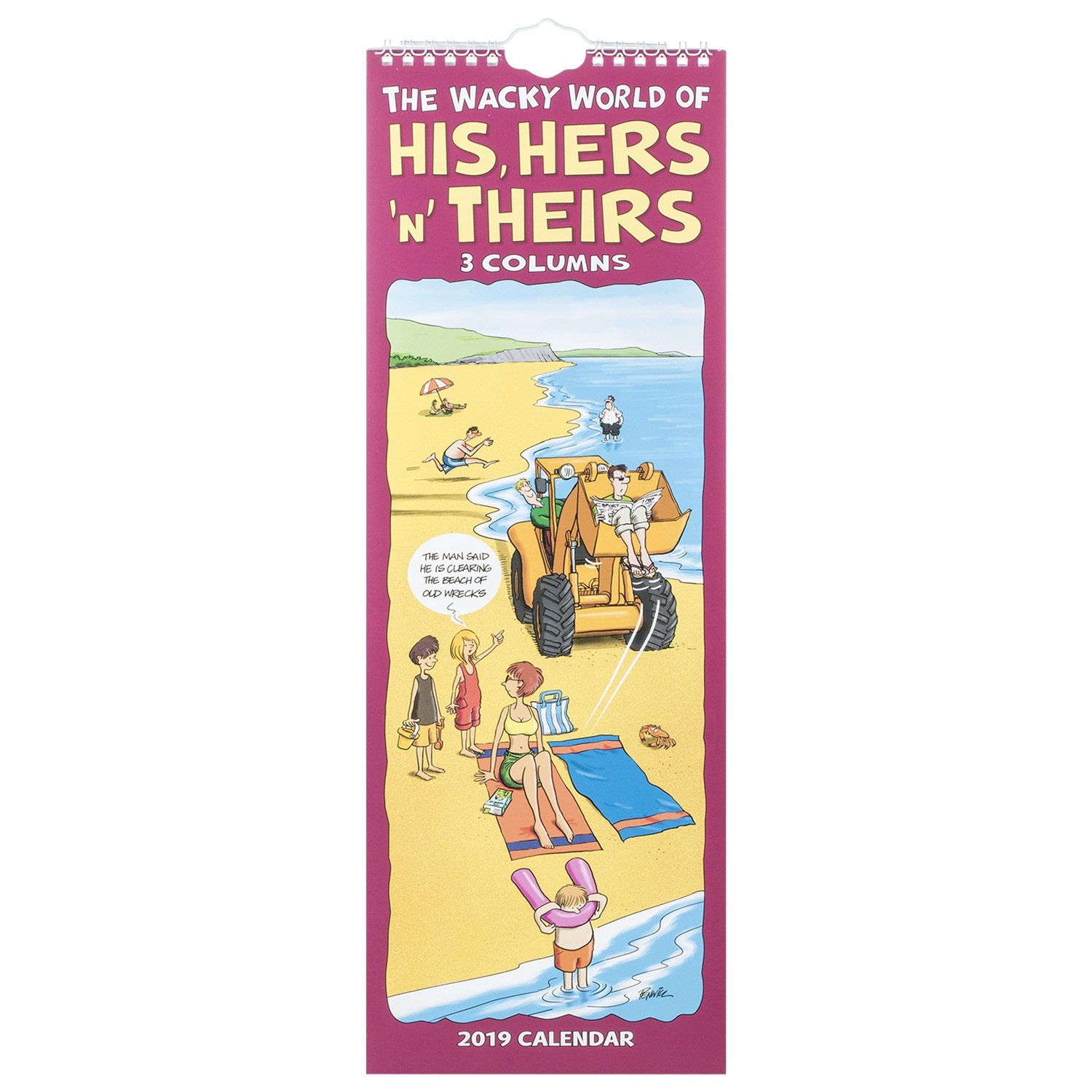 2019 The Wacky World Of His Hers And Theirs Slim Calendar His N Hers Calendar 2019