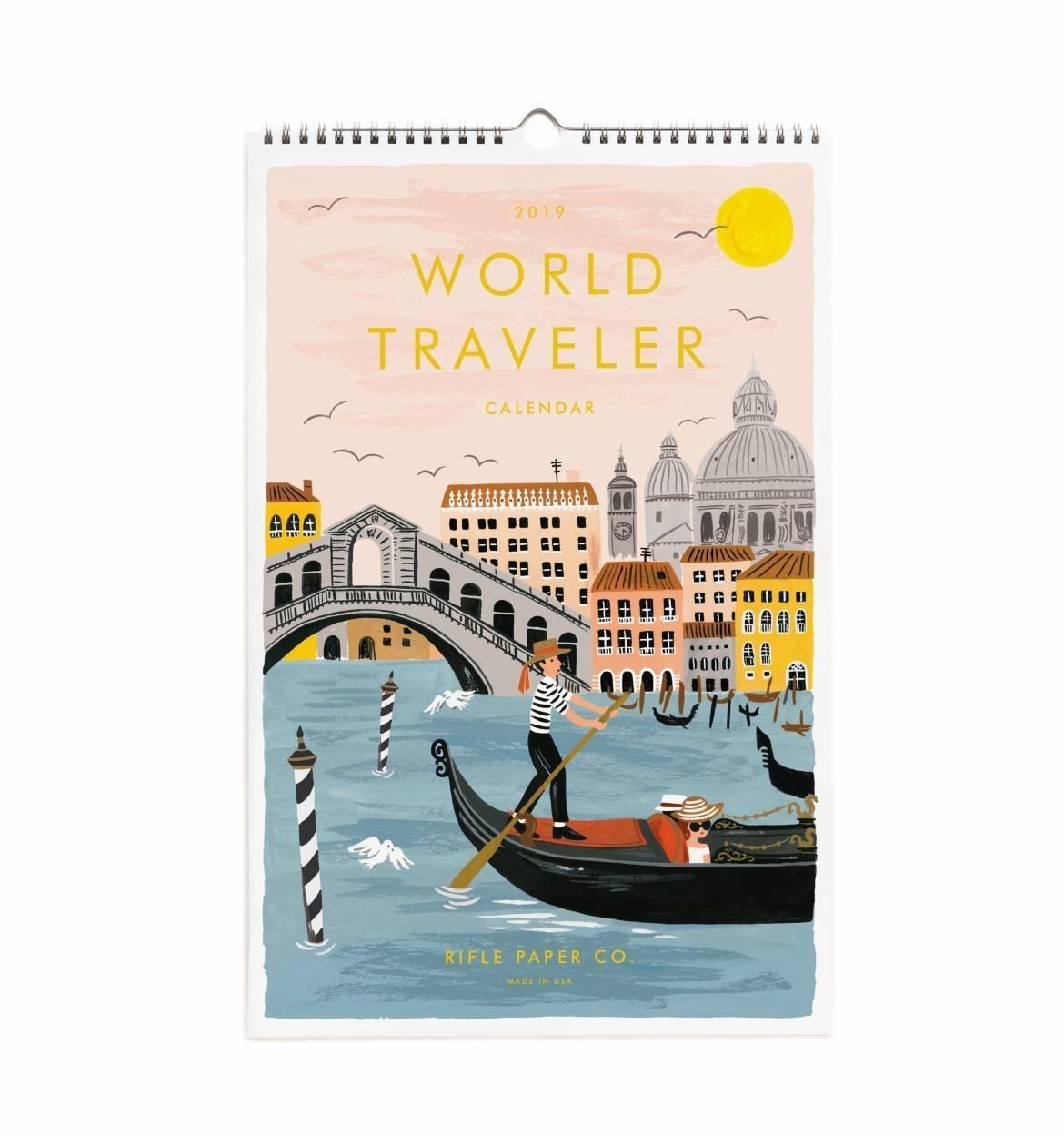 2019 World Traveler Wall Calendar | Linoluna | Shop Calendar 2019 Shop