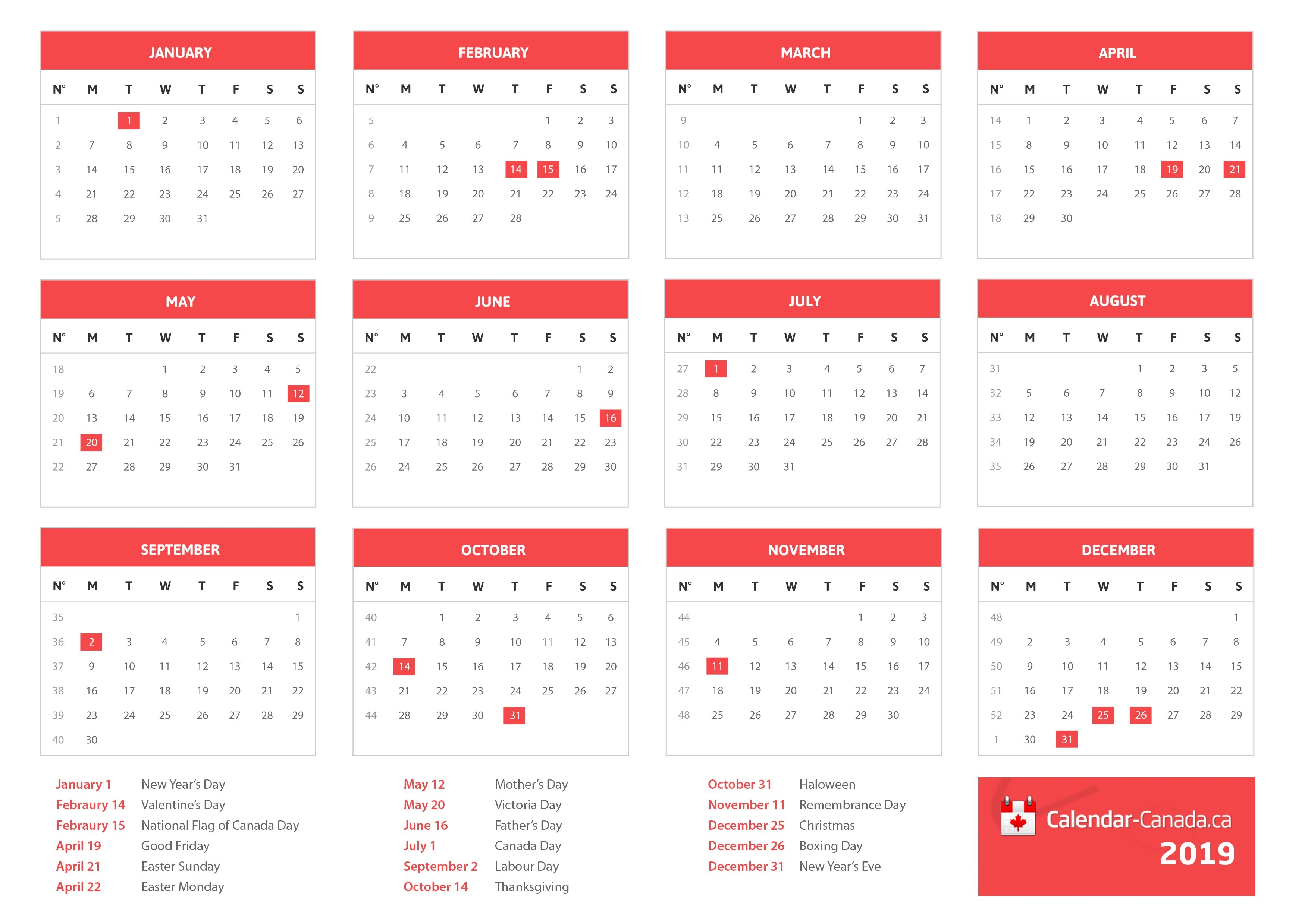2020 Holidays Canada – Statutory, National & Local Holidays For 2020 Calendar 2019 Canada Holidays