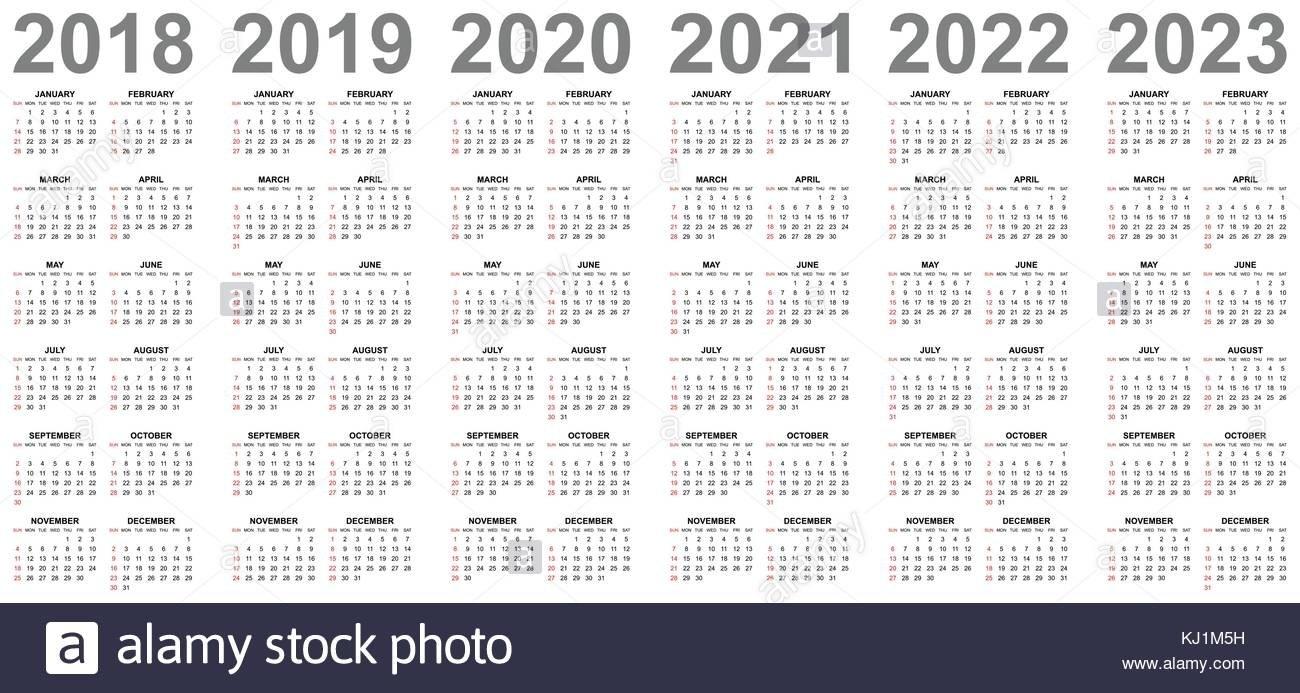4 Year Calendar – Antal.expolicenciaslatam.co 4 Year Calendar 2019 To 2022 Printable