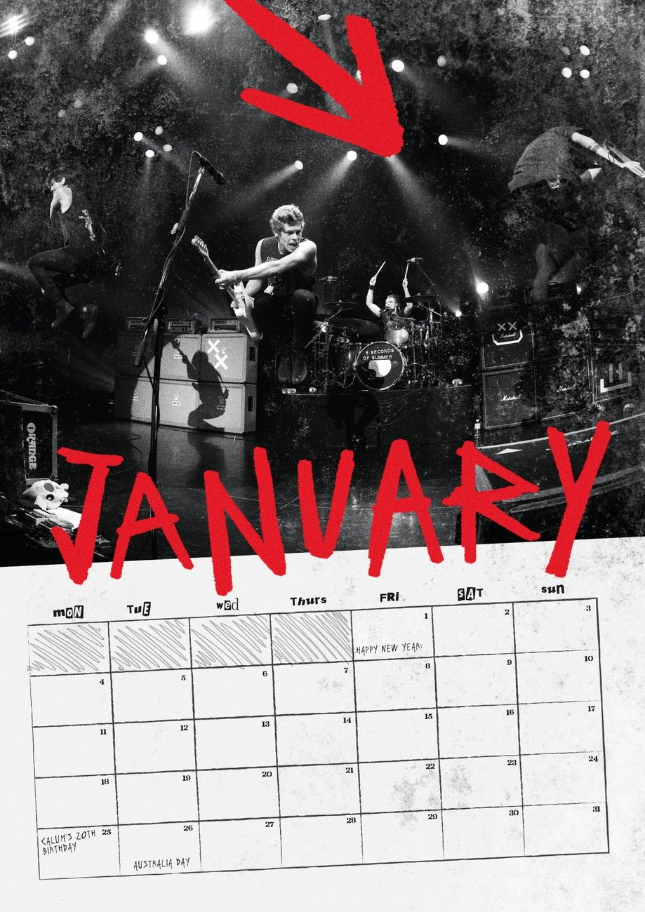 5 Seconds Of Summer – Calendars 2019 On Ukposters/abposters Calendar 2019 5Sos