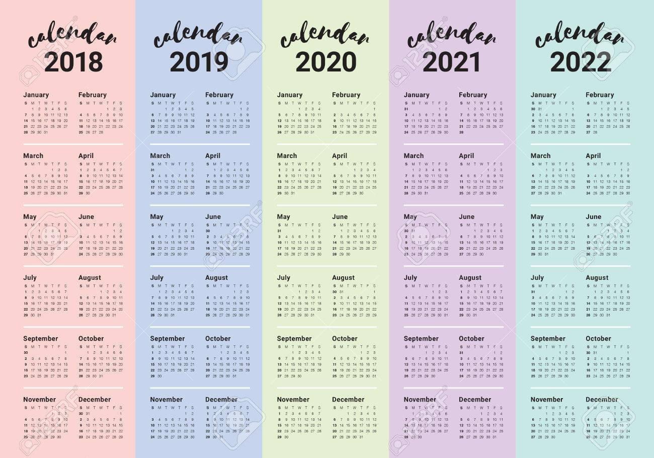 5 Year Calendar 2019 To 2023 – Littledelhisf 4 Year Calendar 2019 To 2022 Printable