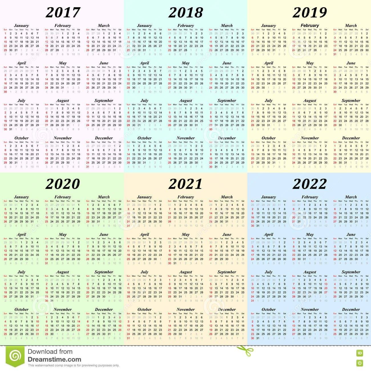 5 Year Calendar 2019 To 2023 – Littledelhisf 5 Year Calendar 2019 To 2023