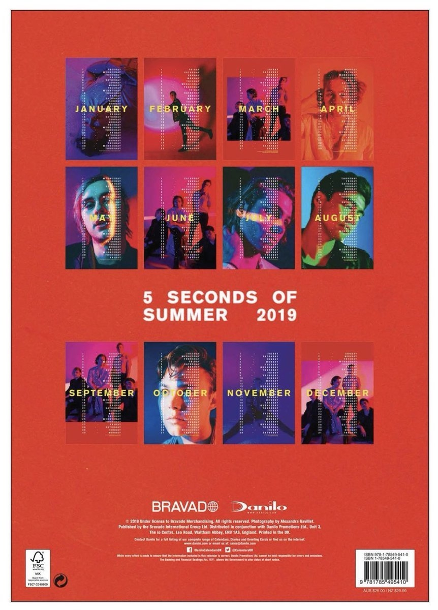 """5Sos Updates! / Tha5Sosfamily On Twitter: """"5Sos Are Releasing Their Calendar 2019 5Sos"""