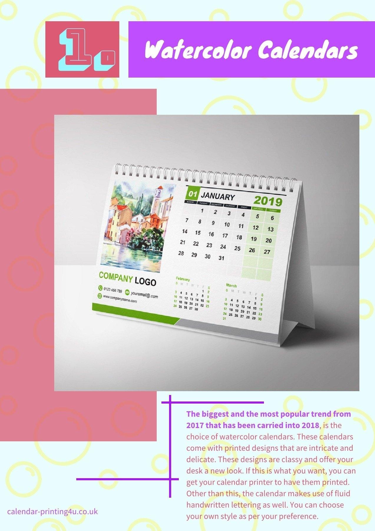 6 Creative Calendar Design Ideas For Your Desk For The Year 2019 Calendar 2019 Ideas